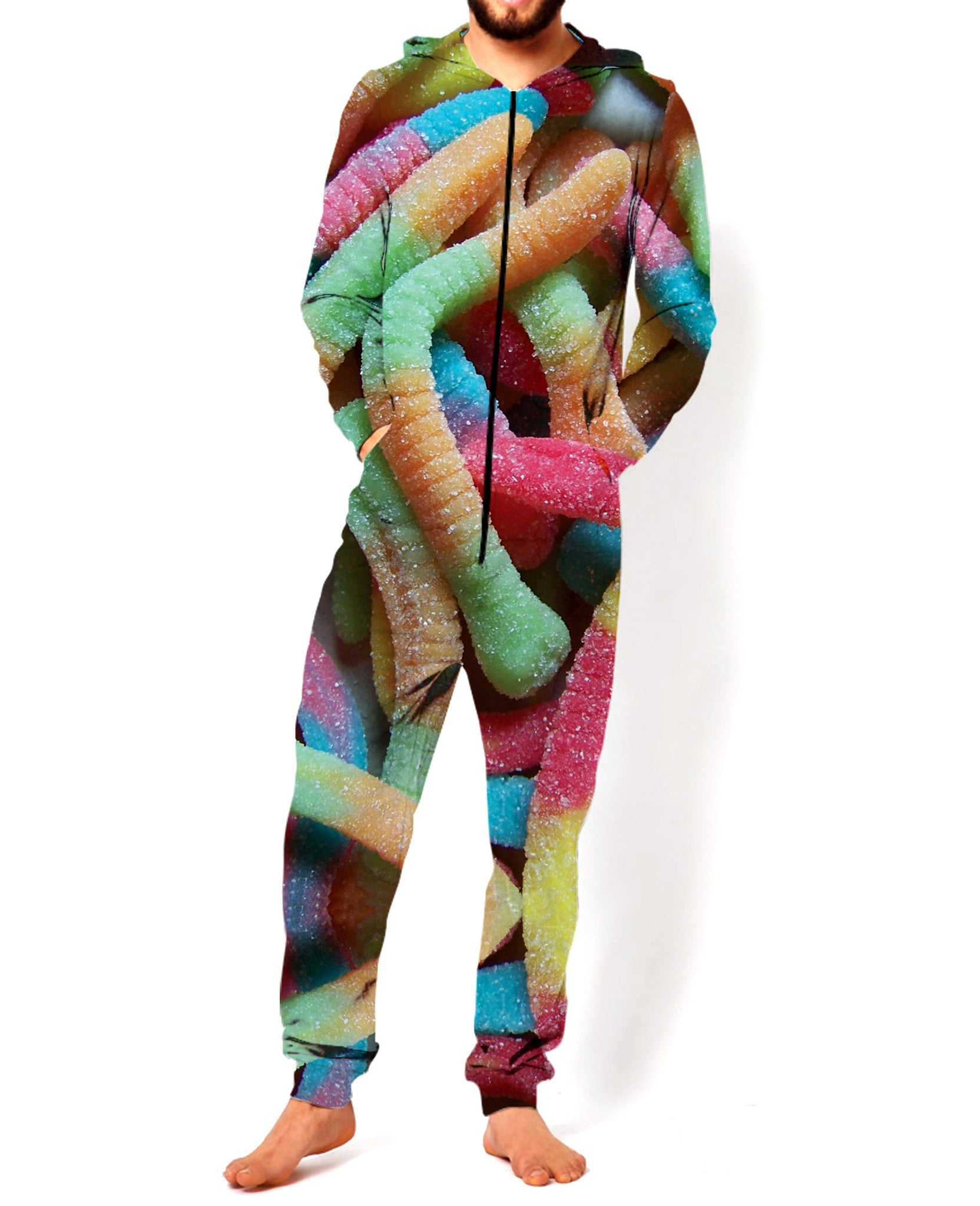 Sour Gummy Worms Onesie