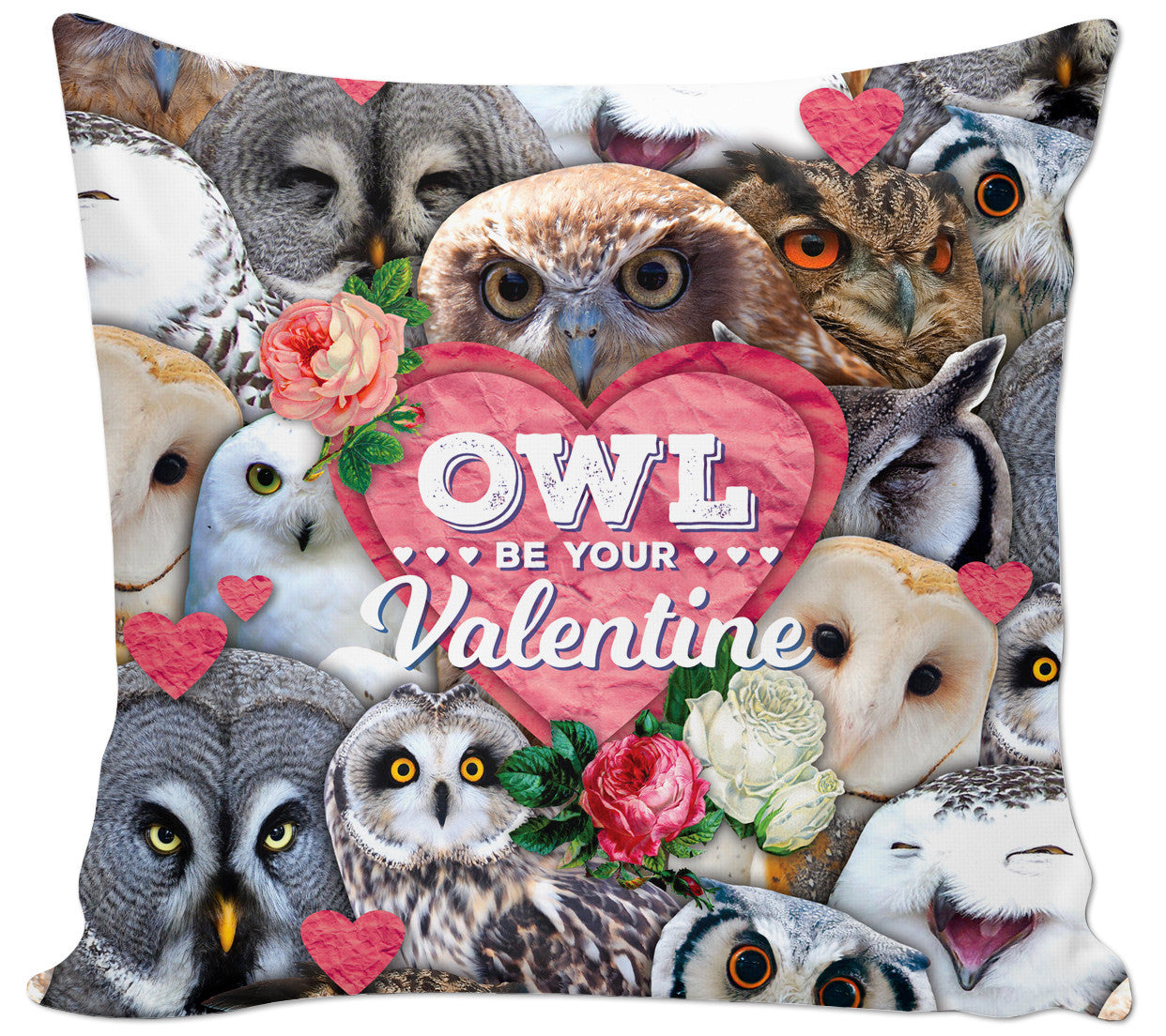 Owl Be Your Valentine Couch Pillow