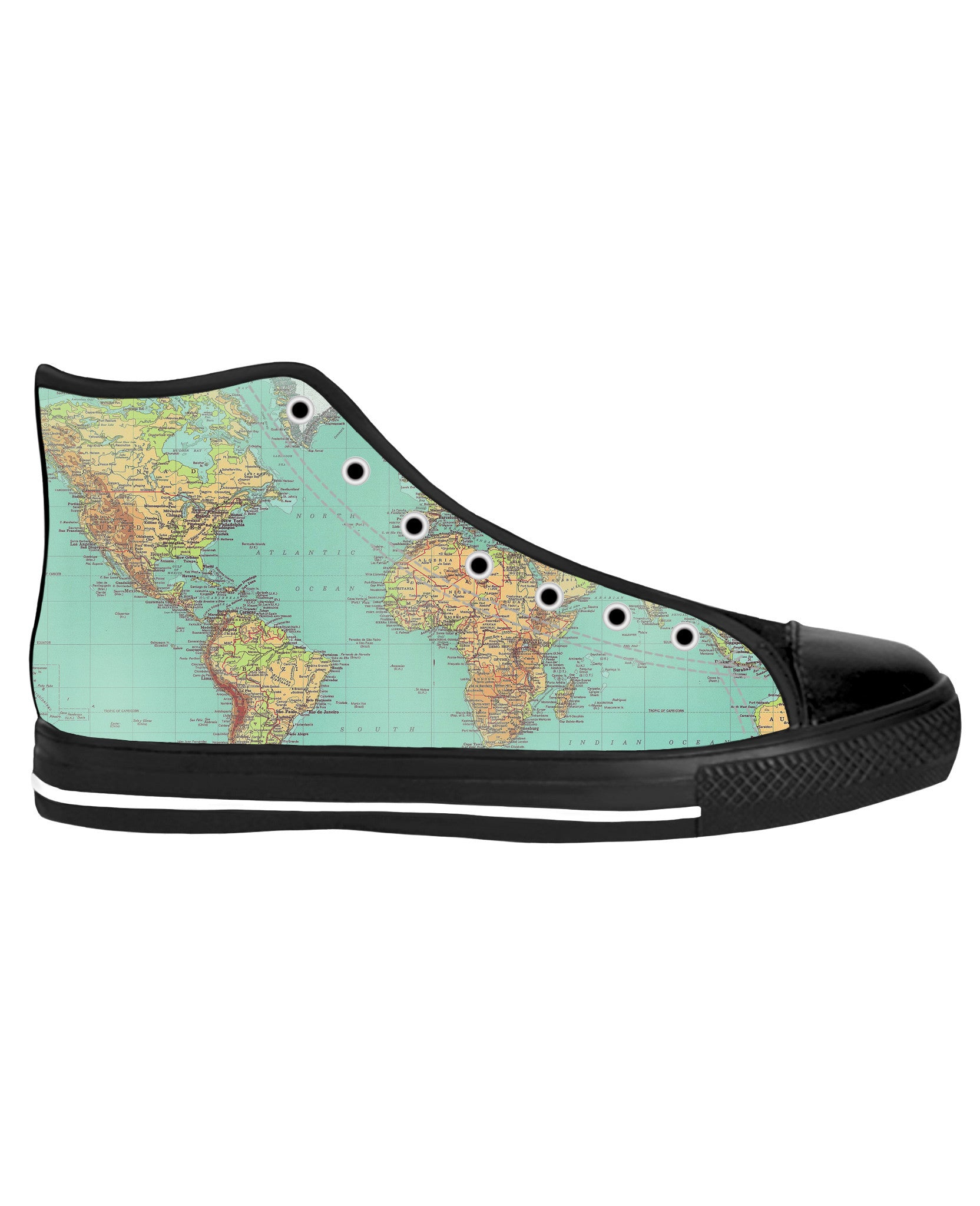 Map Black Sole High Tops