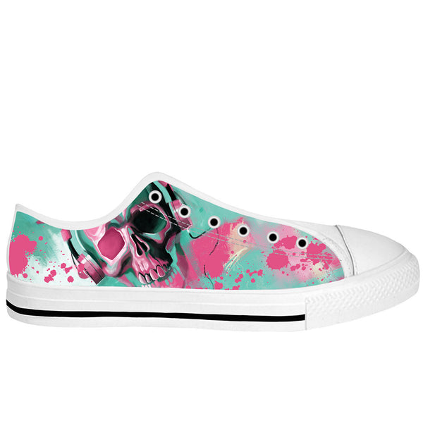 Skull Candy White Sole Low Tops