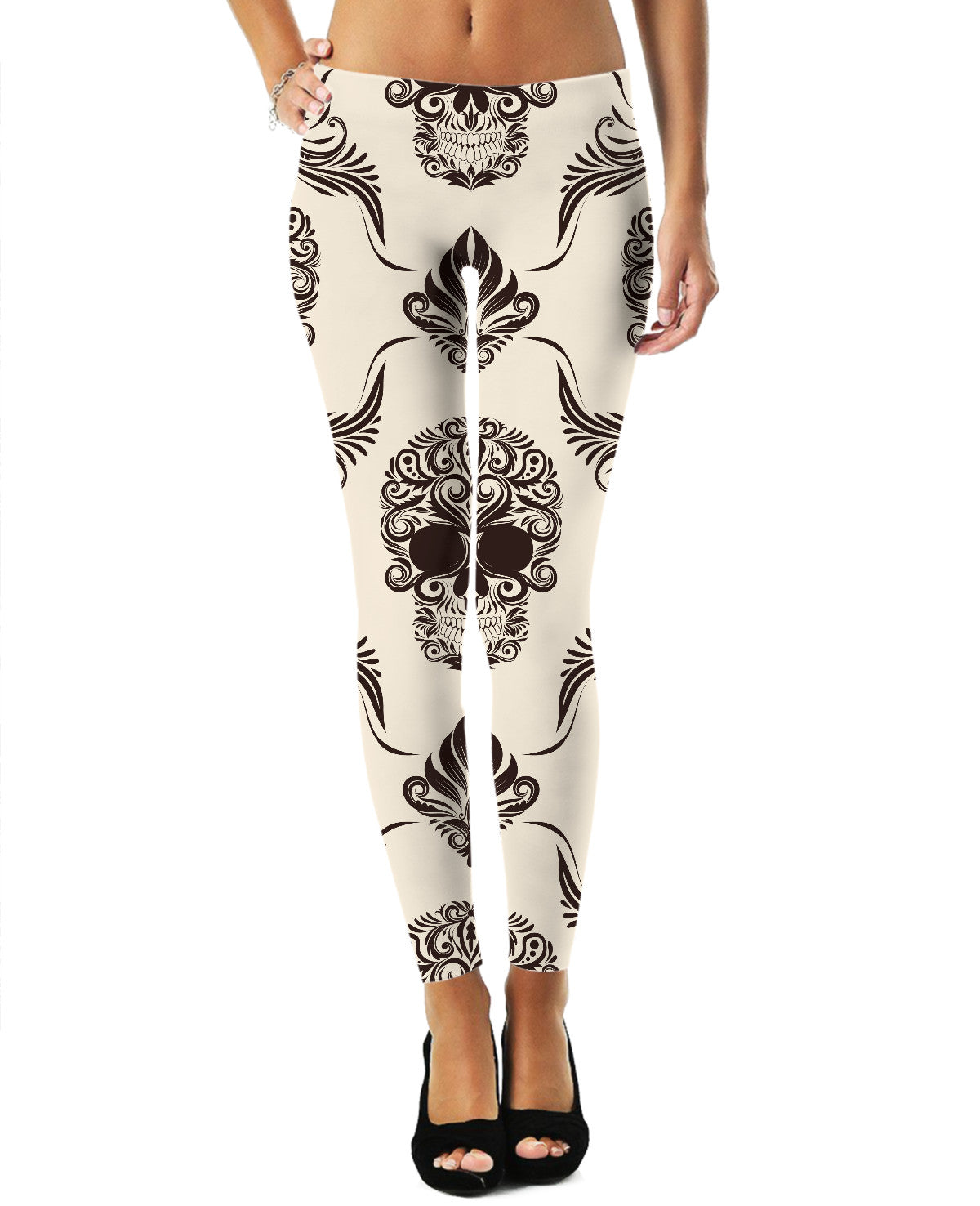 Skull and Flourishes Leggings