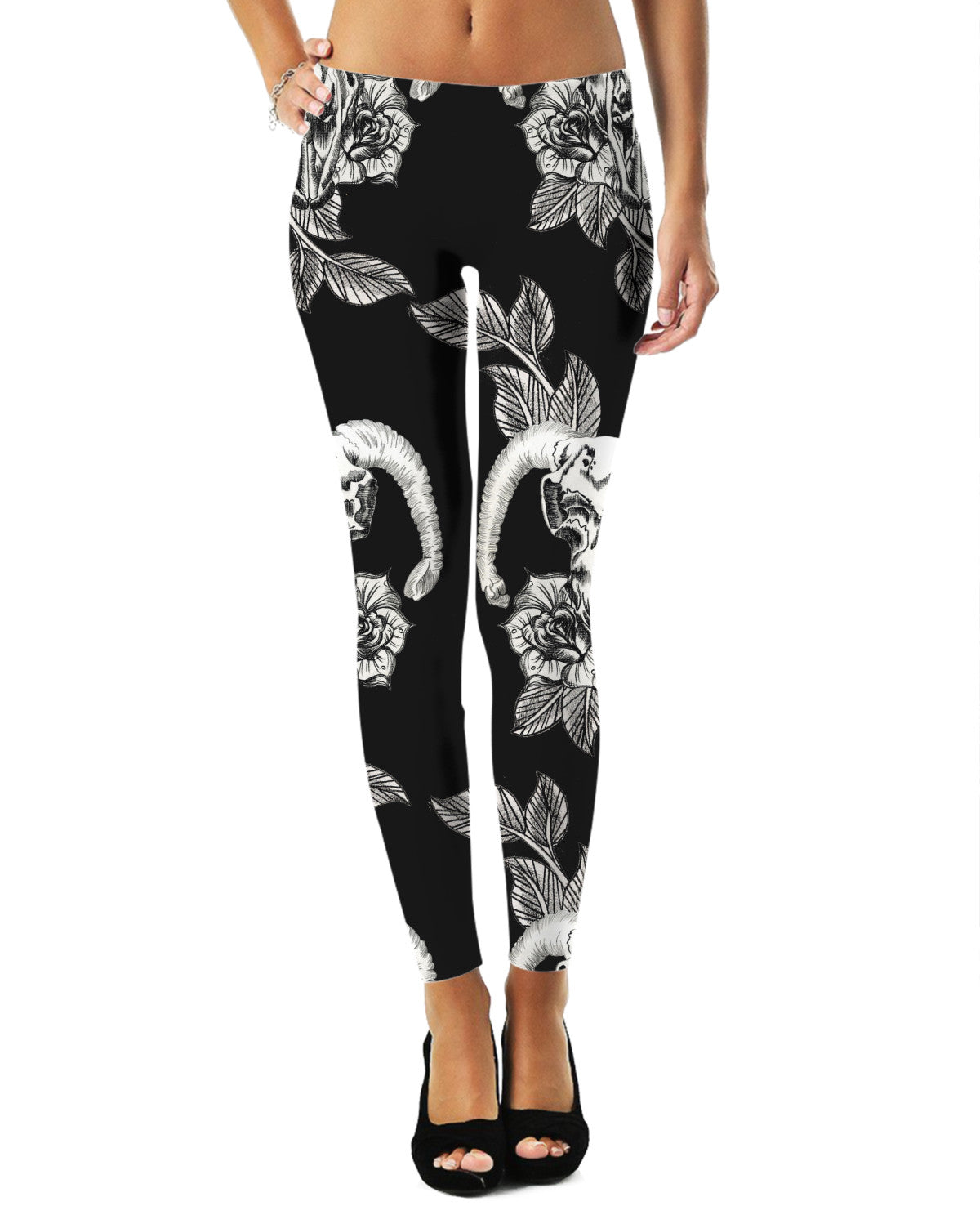 Animal Skulls and Roses Legging