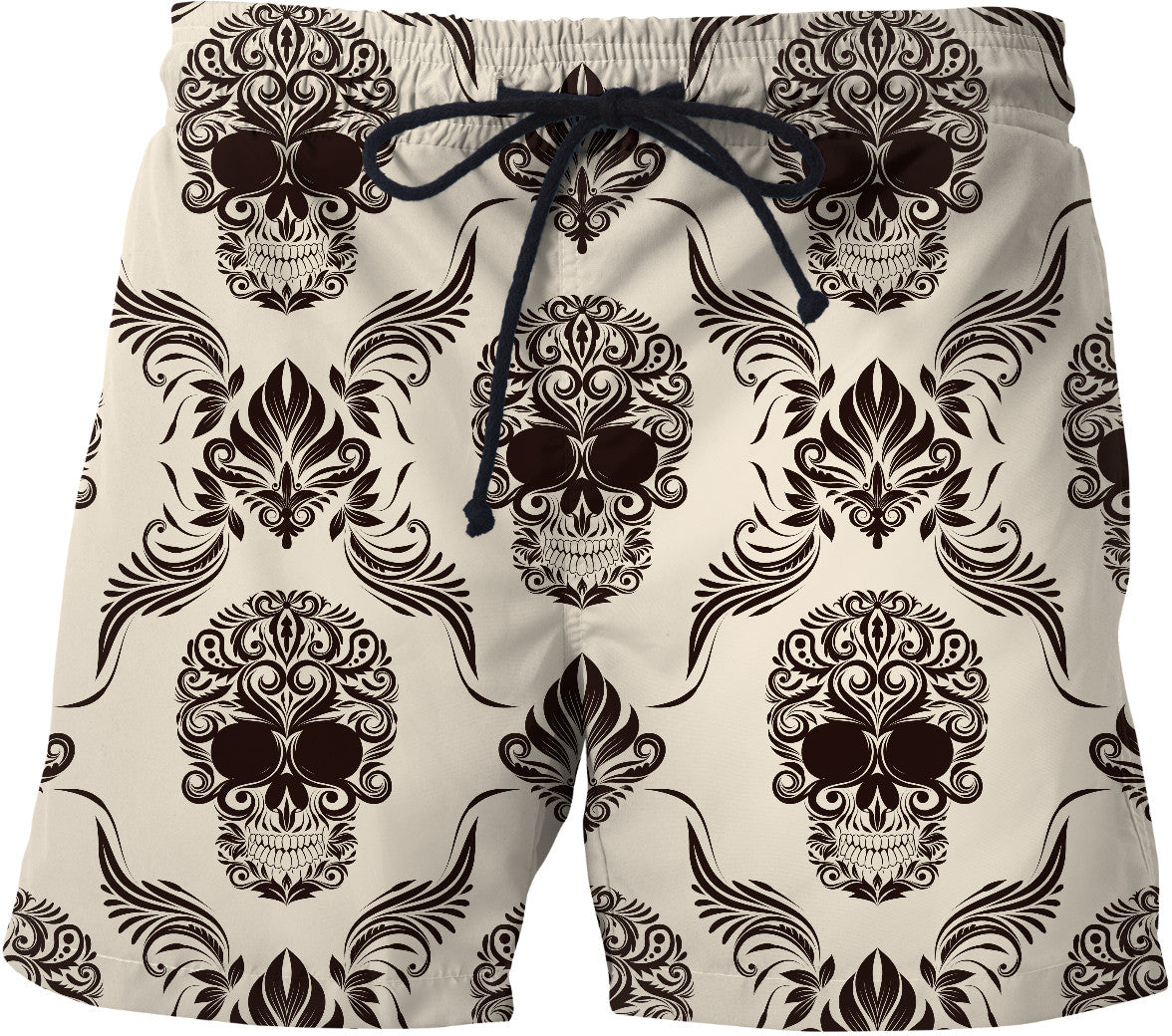 Skull and Flourishes Swim Shorts