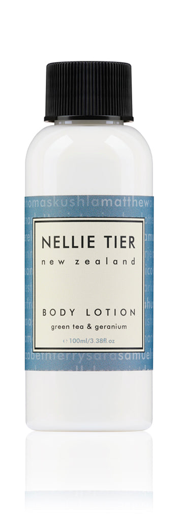 Travel Body Lotion Green Tea and Geranium 100ml