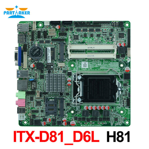 1*LVDS All-in-One Motherboard ITX-D81_D6L
