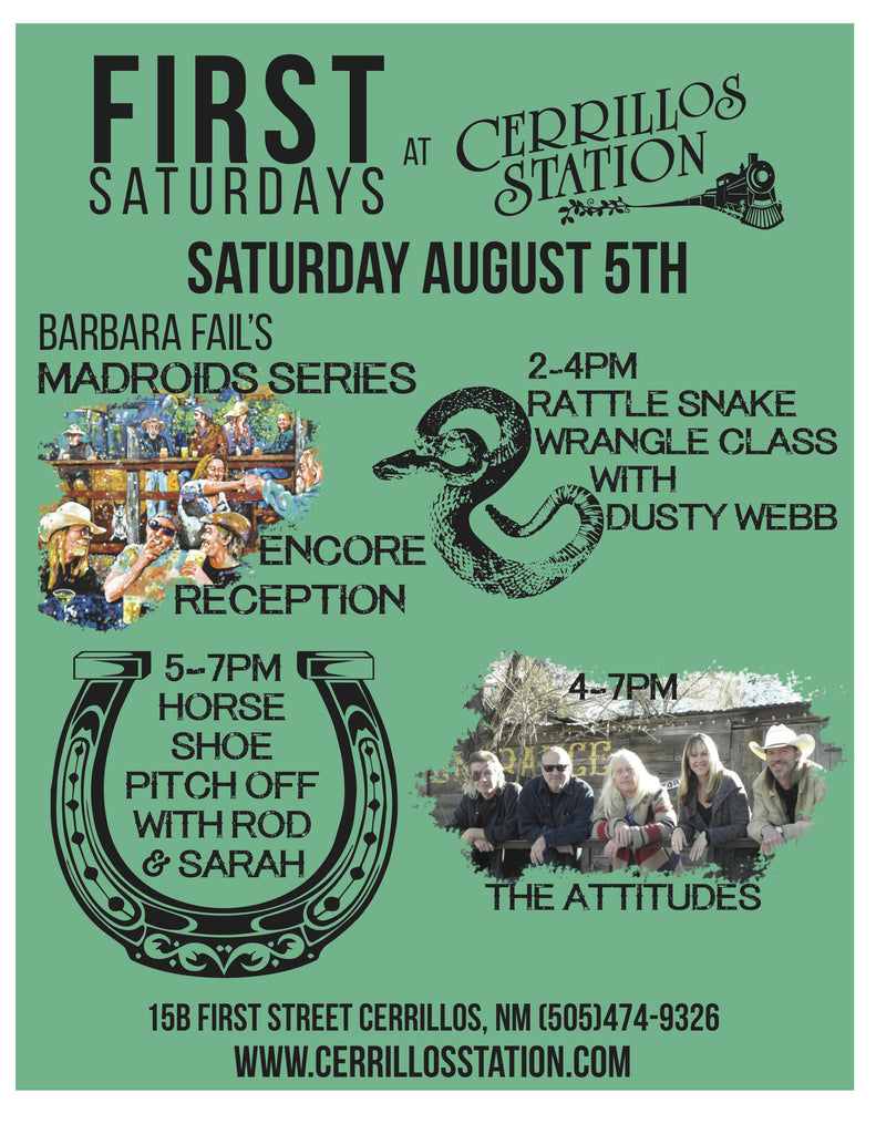 FIRST SATURDAYS EVENT- August 5th!