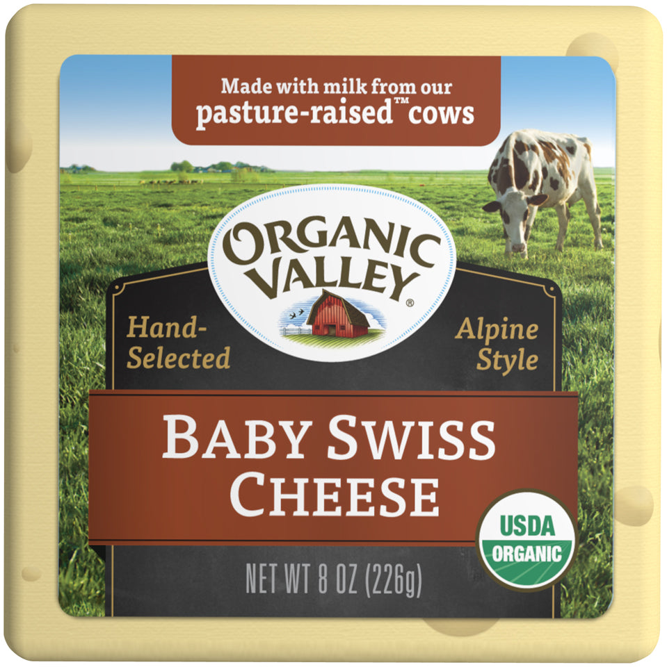 Organic Valley Baby Swiss, 8 oz
