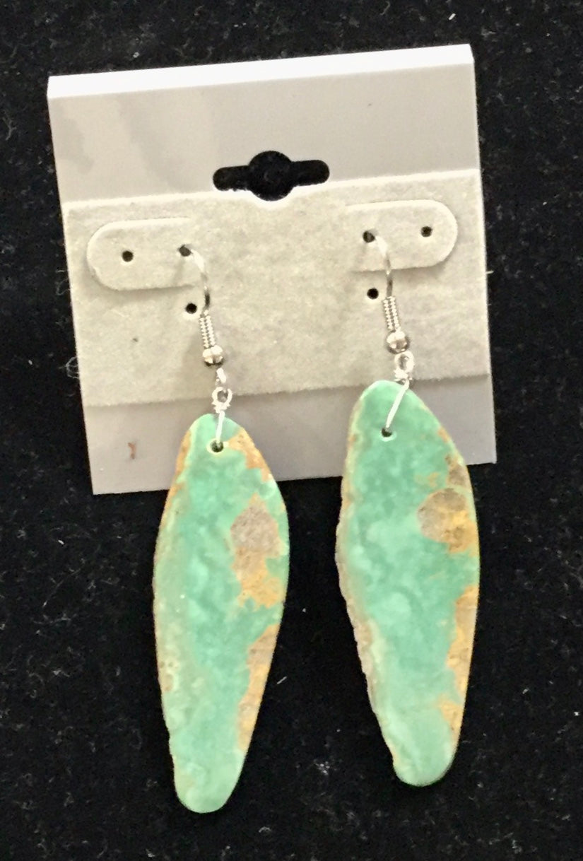 RG48 - Nevada #8 earrings - Earrings - Cerrillos Station | Fine Art Gallery, Native American Jewelry & Shop
