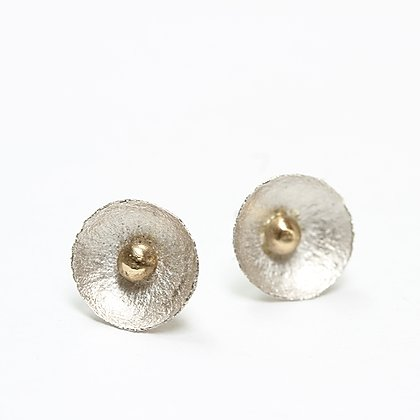 Acorn Top Studs w/ Gold Bud, SS/14k by Laws Of Nature, LON1