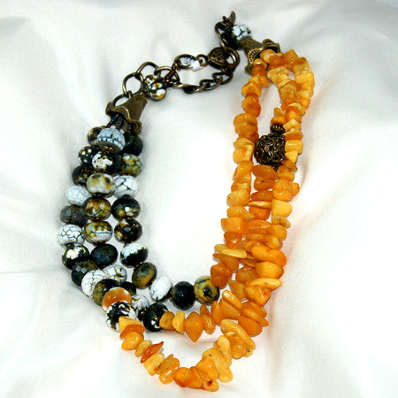 2 Strand Bamboo Coral Necklace