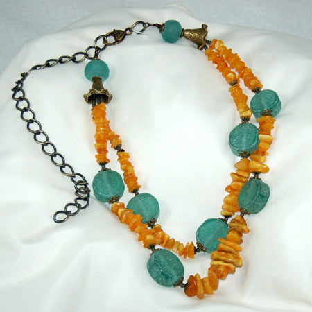 2 Strand Baltic Amber Necklace
