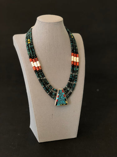 BBJT8 - Turquoise Necklace - Necklaces - Cerrillos Station | Fine Art Gallery, Native American Jewelry & Shop