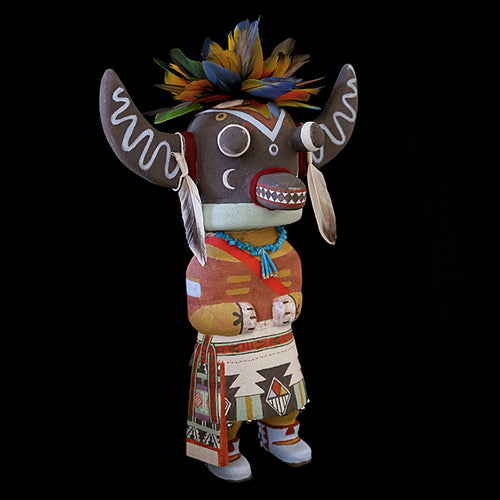 Ahote Corn Dancer Kachina ART-BAR-PK3 - Poleyestewa Kachina - Cerrillos Station | Fine Art Gallery, Native American Jewelry & Shop