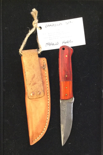 Damascus steel blade with hardwood handle BH2029 - Knife - Cerrillos Station | Fine Art Gallery, Native American Jewelry & Shop