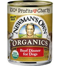 Newman's Own - dog food, wet 2 flavors