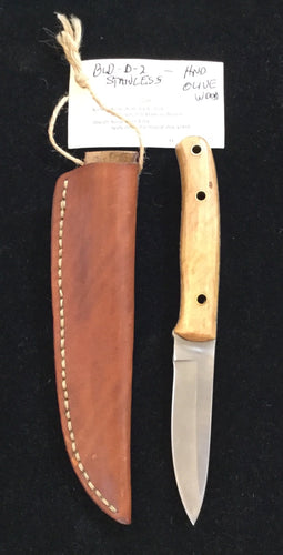 Stainless steel blade with Olive wood handle BH2015 - Knife - Cerrillos Station | Fine Art Gallery, Native American Jewelry & Shop