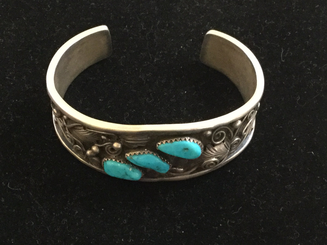 TA11 - Cuff - Cerrillos Station | Fine Art Gallery, Native American Jewelry & Shop
