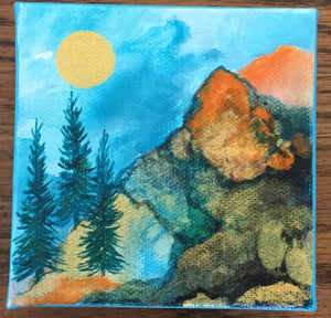 "Products Miniature Oil Original Painting 4"" X 4"" by Karin Brandi, KB23"
