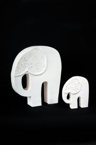 Elephant Pair, By Puck Hogenboom - Ceramic Sculptures - Cerrillos Station | Fine Art Gallery, Native American Jewelry & Shop