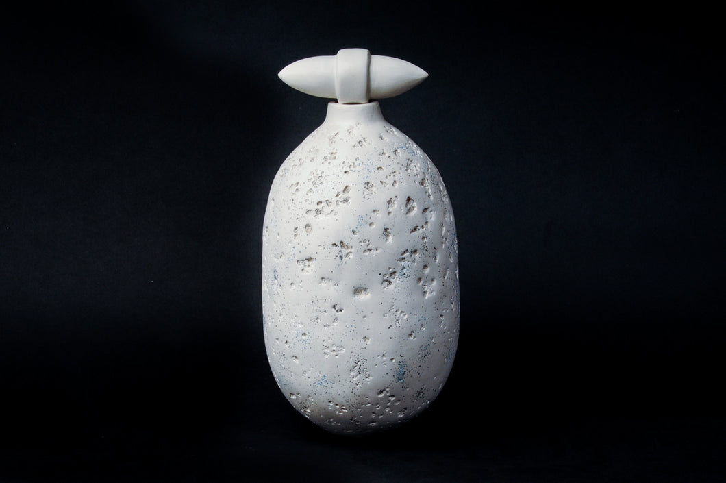 Vessel With Stopper, By Puck Hogenboom - Ceramic Sculptures - Cerrillos Station | Fine Art Gallery, Native American Jewelry & Shop