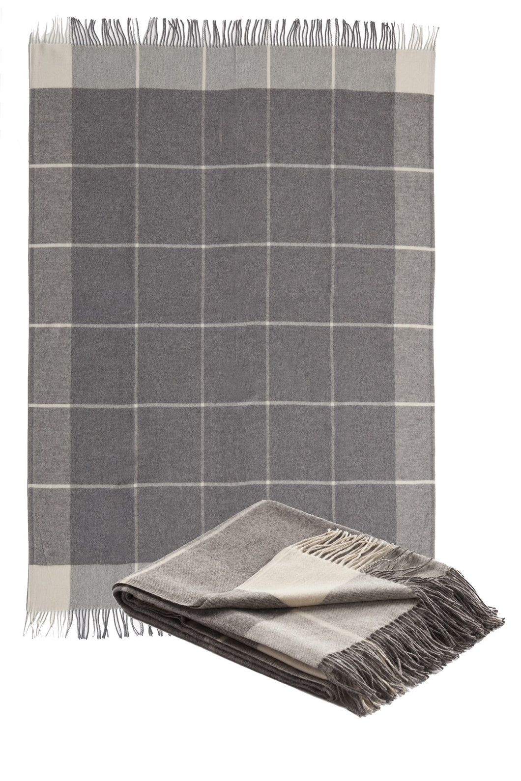 SMITH Woven Throw Grey, By Fibre Auskin, FA5