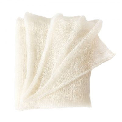 Mohair Throw, Cloud By Fibre Auskin, FA2