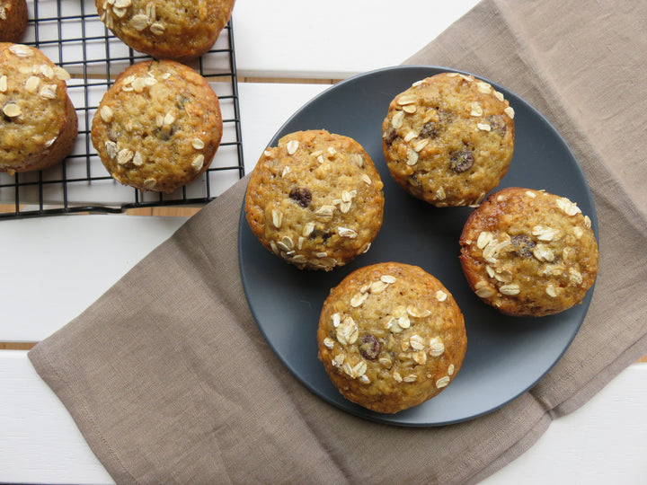 Honey-Sweetened Banana Chocolate Chip Muffins