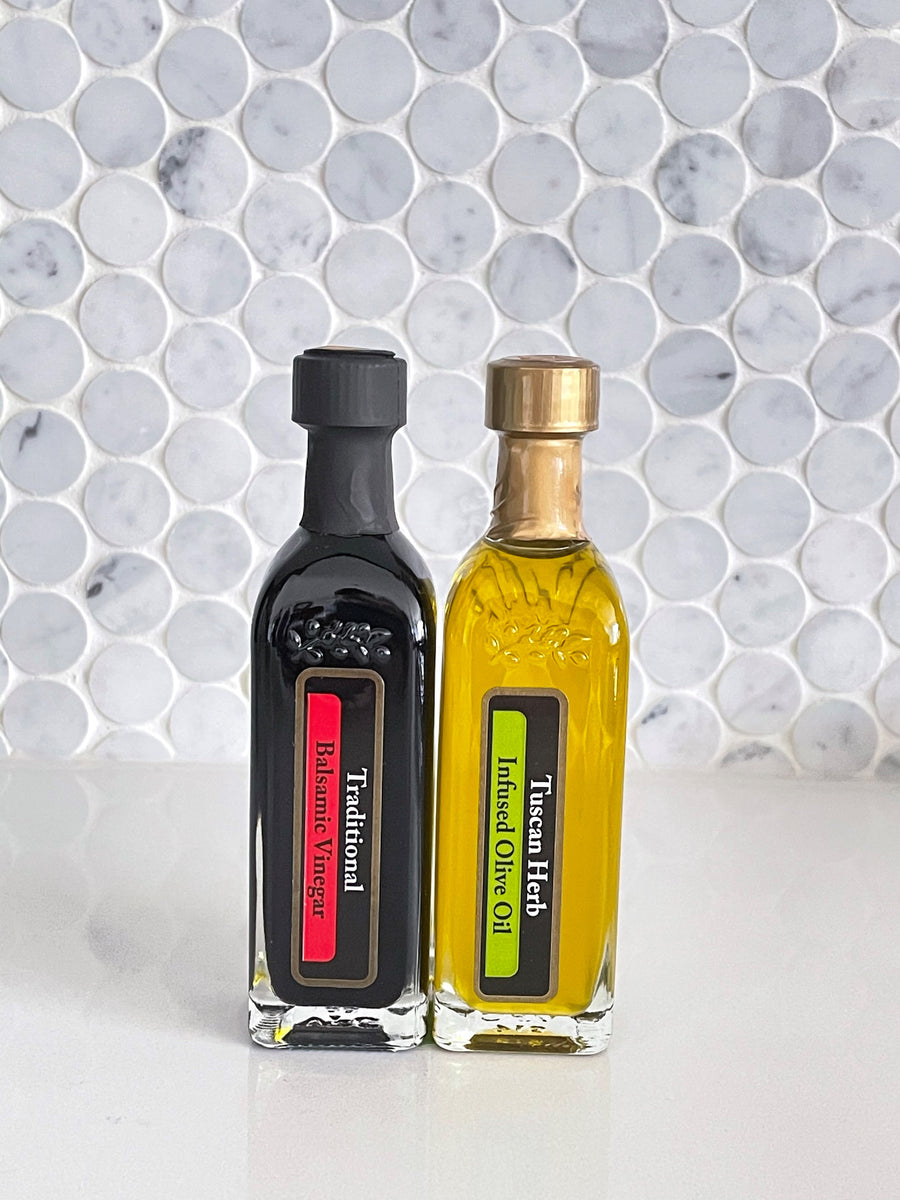 Tuscan Herb Infused Olive Oil and Traditional Balsamic Vinegar