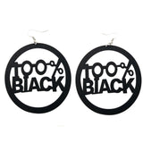 100% black earrings; natural hair earrings; afrocentric accessories; afrocentric earrings; african american earrings; african fashion afro african jewelry fashion twa earrings afrocentric earrings; african american earrings; black earrings