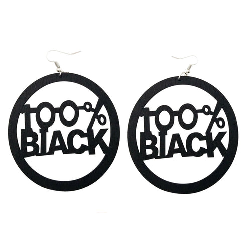 100% black earrings; natural hair earrings; afrocentric accessories; afrocentric earrings; african american earrings;