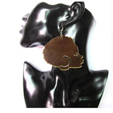 Ayanna African Afro Shape Acrylic Earrings | Ethnic Earring Natural hair afro shaped twa afrocentric earrings ear ring african shaped map accessory accessories jewelry fashion