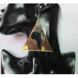 triangle African Afro Shape Acrylic Earrings | Ethnic Earring Natural hair afro shaped twa afrocentric earrings ear ring african shaped map accessory accessories jewelry fashion