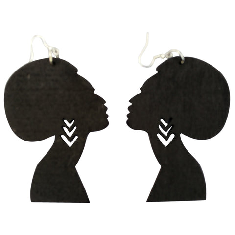 Afro earrings | Afrocentric earrings | natural hair earrings | afrocentric fashion | afrocentric jewelry |  wooden earrings | big black earrings | afro earrings for sale