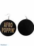 Afro poppin earrings natural hair jewelry afrocentric accessories ear ring candy pro black