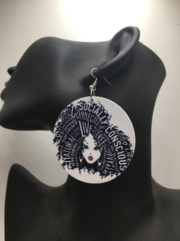 Afrocentric Earrings | African accessories | Black and proud| Natural Hair Earrings