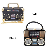 tape recorder purse handbag bag pocket book pocketbook wallet organizer holder tape deck radio raheem