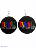 Living my best life earrings | natural hair jewelry | afrocentric accessories