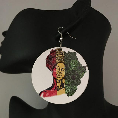 agatha earrings afrocentric earrings, jewelries, fashion accessories, affordable jewelries  jewelry accessory twa afro afrocentric african fashion natural hair rasta color