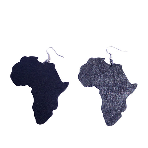 Africa earrings | africa earrings | africa shaped earrings | map of africa earrings | natural hair earrings | afrocentric earrings, afro fashion african jewelry ethnic earrings map wooden jewelry