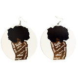 unapollogetically me earrings | natural hair jewelry | afrocentric accessories | fashion | twist | afro | twa | coils | twist out | nappy coils | locs | dreadlocks | dread locs | natural beauty