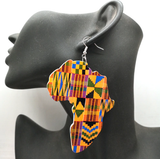 africa earrings kente print map of african jewelry accessories fashion outfit idea natural hair ear ring jewellery accessory