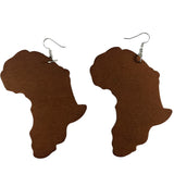 brown map of africa earrings