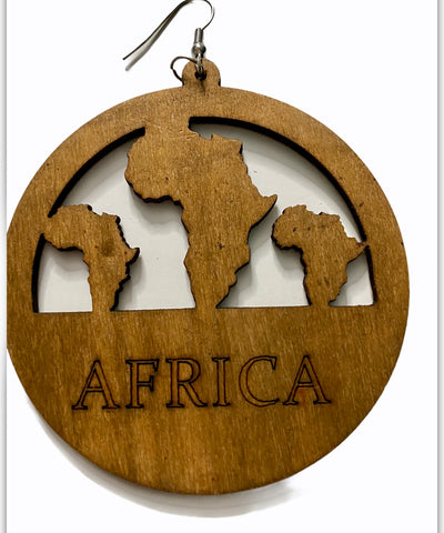 africa earrings light brown color circle of life afrocentric accessories pro black jewelry map of african continent jewellery