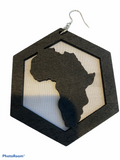 africa map earrings african continent earring american accessories afrocentric jewelry black brown gift idea kwanzaa urban cheap cute unique different christmas