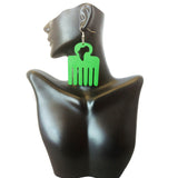 Africa Afro Pick Earrings | Afro Pic Earrings | Hair Pick Earrings | Afro Comb | Natural Hair