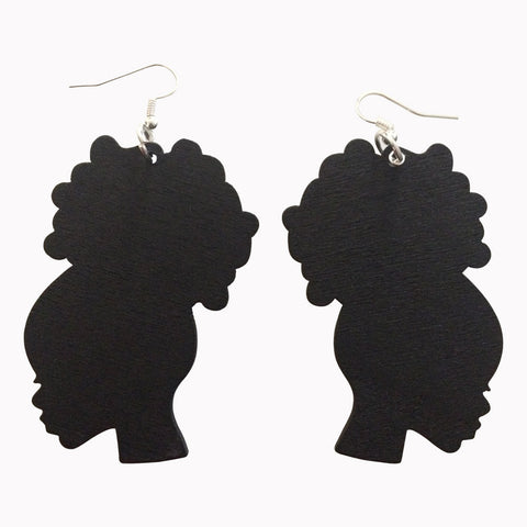 black afro puff earrings | yellow afro puff earrings | natural hair earrings | afrocentric earrings | afrocentric jewelry | afrocentric fashion | african earrings | afro puff