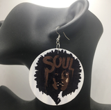 chocolate afro soul earrings natural hair earring ear rings jewelry ring afrocentric accessories accessory womens woman cheap