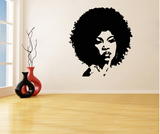 afro vinyl wall decal home decor natural hair afrocentric african american room apartment home house living furniture design idea