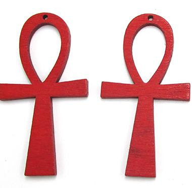 red ankh earrings | natural hair earrings | afrocentric earrings | ank | egypt earrings