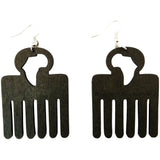 Afro pick earrings | Africa earrings | Afro pic earrings | afrocentric earrings | natural hair earrings